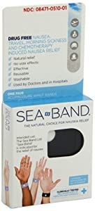 Sea-Band Adult Wristband, Color May Vary, 1-Pair
