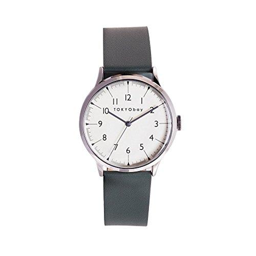 tokyobay-t339-gr-herren-edelstahl-grun-leder-band-weiss-zifferblatt-smart-watch