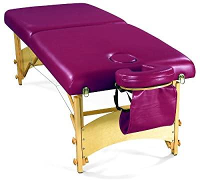 "3B Scientific W60602BG Red Deluxe Portable Massage Table, 72.5"" Length x 29"" Width"