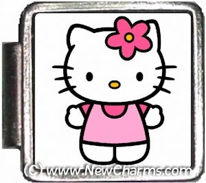 Pink Hello Kitty Italian Charm Bracelet Jewelry Link A10382