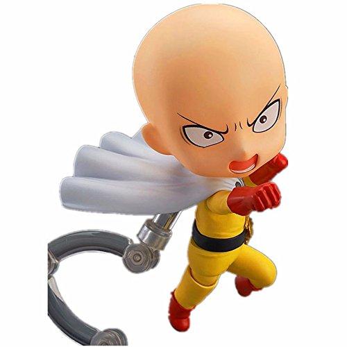 "Anime Action Figure ONE PUNCH MAN Re Make Saitama Sensei Nendoroid Doll PVC Japanese Toy 4"" 10cm Toy Figures"