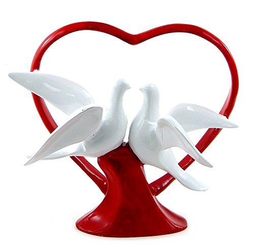 Love Doves Wedding Cake Topper - Wedding Couple Statue Figurine