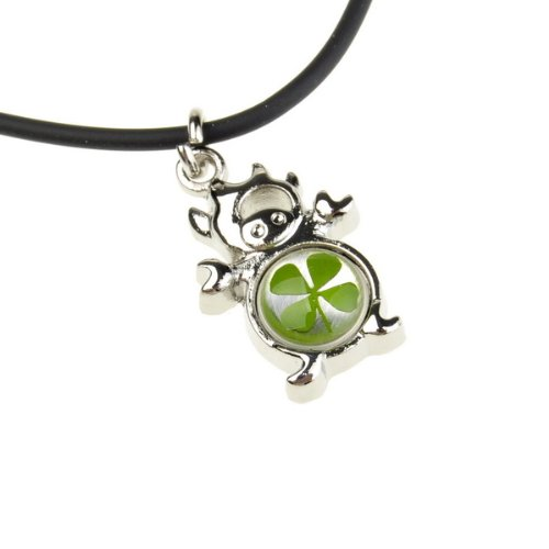 Lovely Clover Taurus Natural Real Four Leaf Cute Necklace Fashion Pendant