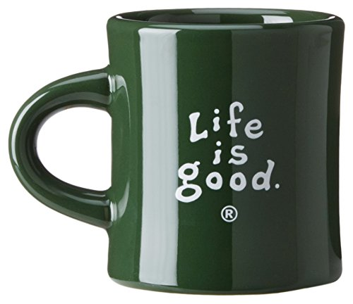 Life Is Good Stacked Lig Diner Mug (Woodsy Green), One Size