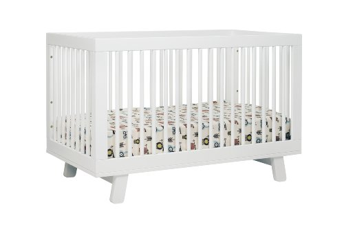 babyletto Hudson 3 in 1 Convertible Crib with Toddler Rail, White