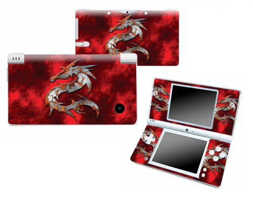 Bundle Monster Nintendo Ndsi Dsi Nds Ds i Vinyl Game Skin Case Art Decal Cover Sticker Protector Accessories - Red Dragon