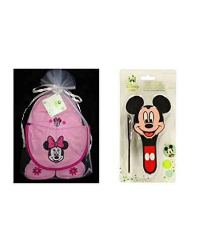 Disney Baby Minnie Mouse Layette Set with Bonus Comb & Brush - 1