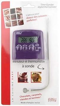 n thermom tre cuisson digital digital sonde minuteur violet cuisine maison m266. Black Bedroom Furniture Sets. Home Design Ideas