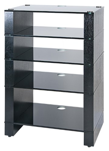 Cheap BLOK STAX DeLuxe 500 Five Shelf Black Oak Hifi Audio Stand & AV TV Furniture Rack Unit (B003DVJUFE)