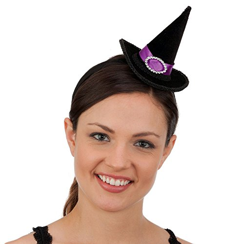 Mini Witch Hat with Purple Band