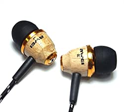 Awei ES-Q5 Beige Genuine Excellent Wooden In-ear Headphones Earphones Headset Fiber Cable