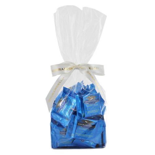 Ghirardelli Chocolate Gourmet Milk Sea Salt Escape SQUARES Gift Bag Chocolates Gift Bag, 33 pcs