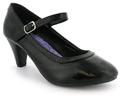 black 6 5cm heel school shoes black patent uk