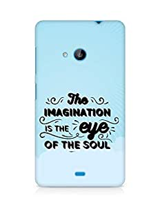 Amez The Imagination is the Eye of the Soul Back Cover For Microsoft Lumia 535