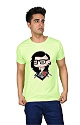 LetsFlaunt Skrillex Cartoon T-shirt Boys Green Dry-Fit-Medium Nw