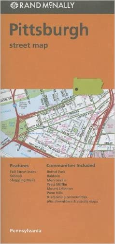 Rand Mcnally Folded Map: Pittsburgh Street Map (Rand McNally Pittsburgh Street Guide)