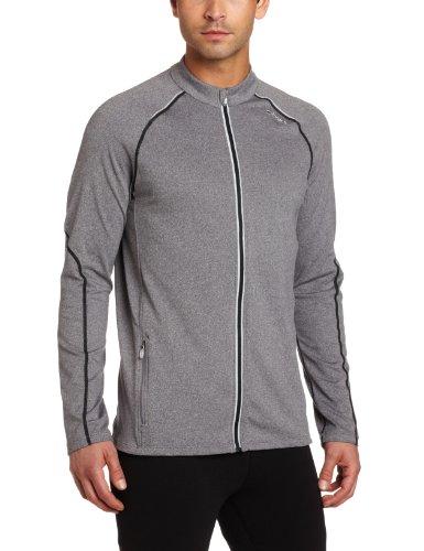 ASICS Asics Men's Thermopolis LT Full Zip Jacket (Heather Iron/Black, Large)