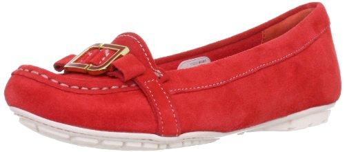 Rockport Women's Etty Enamel Moc Poppy Red Casual Loafers K74511 3 UK