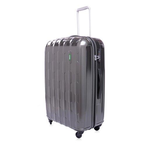 Lojel Arrowhead Polycarbonate 27-Inch Upright Spinner Luggage, Grey, One Size