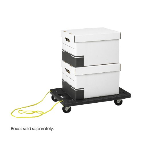 Safco 4045BL Stow-Away Dolly, Black
