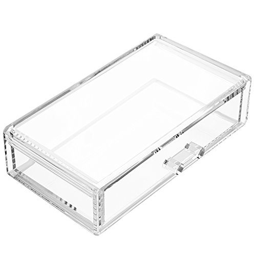 Weiai Square Acrylic Storage Lip Case Cosmetic Box Makeup Stand C80 Clear (Acrylic Box With Lid compare prices)