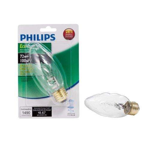 Philips 423855 72-Watt F15 Clear Ecovantage Post Light Light Bulb front-131422