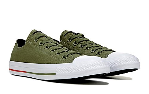 Chuck Taylor All Star Shield Canvas Low Top Sneaker Fatigue Green (7.5 Mens/9.5 Womens)