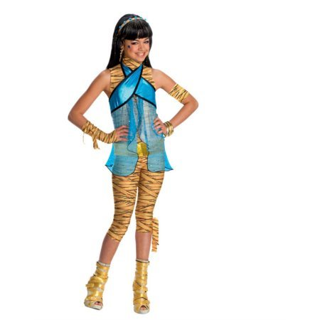 [Monster High Cleo De Nile Children's Dress-Up Nylon Wig Halloween Accessory] (Monster High Cleo De Nile Halloween Costumes)