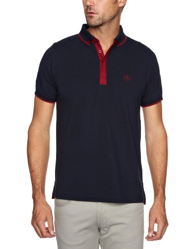 Henri Lloyd Lydney Polo Men's Shirt Navy/Burgundy Small