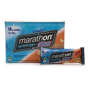 Marathon Bars Energy Peanut Butter Singles, 1.94oz Bars (Pack of 12)