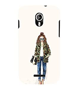 EPICCASE Cool girl Mobile Back Case Cover For Micromax Canvas Magnus A117 (Designer Case)