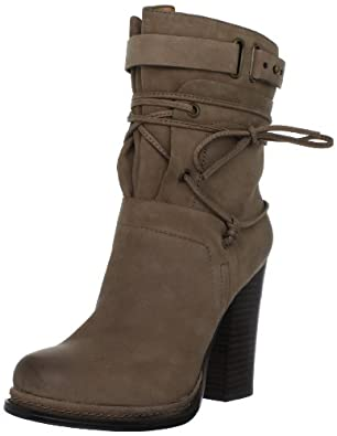 Nine West Women's Kelsbelle Ankle Boot,Taupe Leather,10 M US