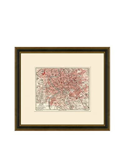 Antique Map of Rome, 1894-1904 As You See