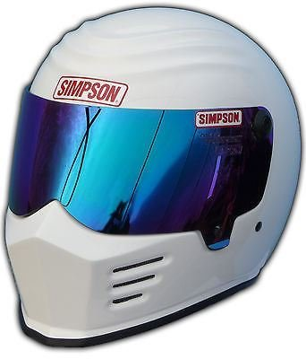 SIMPSON OUTLAW HELMET SNELL SA2010 GLOSS WHITE M MEDIUM 58cm @ HELMET WORLD