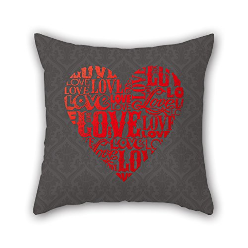 PILLO The Love Cushion Covers Of ,20 X 20 Inches / 50 By 50 Cm Decoration,gift For Couples,bar,home Theater,couples,bedding,divan (2 Sides) (Oasis Thule compare prices)