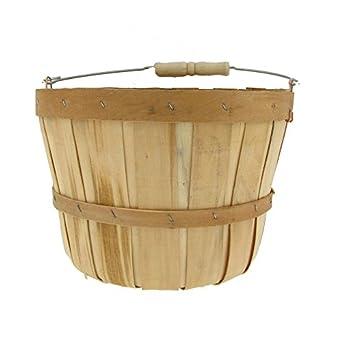 "Texas Basket 530 8.5"" x 6.5"" 1/2-Peck Natural Basket"