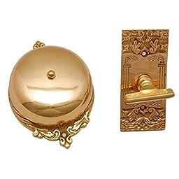 Adonai Hardware Bartholomew Brass Manual Old Fashion Door Bell