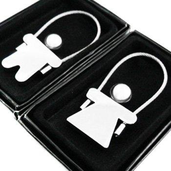 kilofly Keychain Pair - for Lovers - Milk & Cookies
