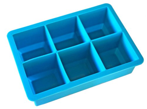 California Kitchenware Mammoth Silicone Ice Cube Tray - Makes 6 Extra Large Cubes back-984670