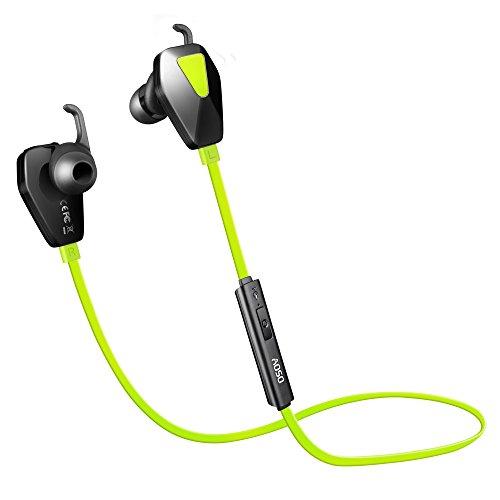 AOSO Auricolare Bluetooth 4.1 Sport, Prova di Sudore IPX4, Handsfree Microfono, 100mAh Batteria Ultraleggero Wireless Headset In Ear per iPhone Samsung Huawei Xiaomi ed altri Smartphone Tablet Verde