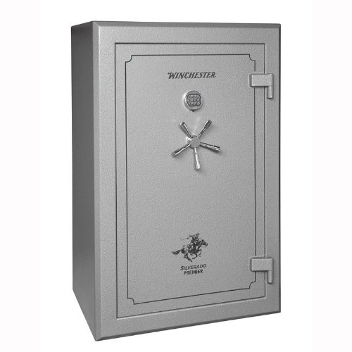 Winchester Silverado Premier 2 Hour Fire Safe/51 Gun Safe - S38 - Grey - Electronic Lock - Door Panel Organization Included - 2 Hour 1400 Degree Rating - Three Layers Of 5/8 Inch Fireboard In The Door - Palusol Heat Expandable Door Seal - UL Listed For Bu