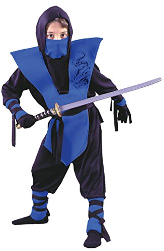 Boys Ninja Complete Blue Kids Child Fancy Dress Party Halloween Costume