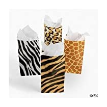 12 Zoo Animal Print Goody Bags