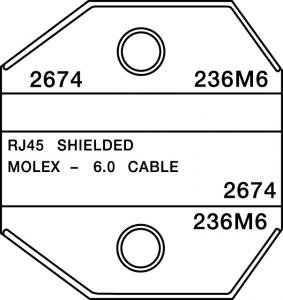 paladin tools 2674 shielded rj45 amp molex die for crimpall 8000 1300 series crimpers. Black Bedroom Furniture Sets. Home Design Ideas