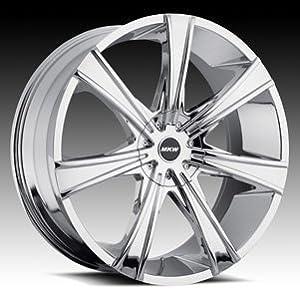 MKW M108 24×9.5 Chrome Wheel 6-135mm 6-139.7mm Bolt Pattern / +25mm Offset / 100mm cb