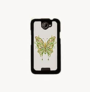 KrazyCases Butterfly Art Back Shell Cover For HTC One X