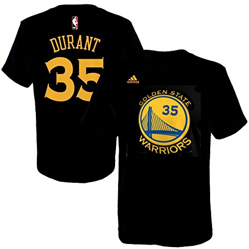 Kevin Durant Golden State Warriors Black Jersey Name and Number T-Shirt