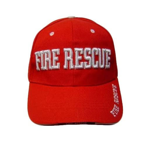 RED FIRE RESCUE DEPARTMENT BASEBALL CAP HAT FIREFIGHTER
