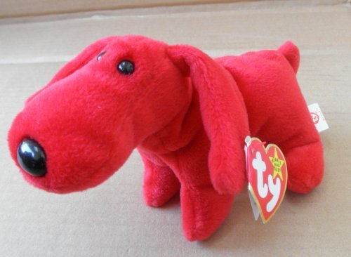 TY Beanie Babies Rover the Red Dog Stuffed Animal Plush Toy - 7 inches long - Red - 1