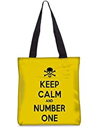 Snoogg Keep Calm And Number One Fashion Printed Shopping Shoulder Lunch Tote Bag For Women